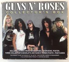 guns n' roses CD collectors box biography interviews poster photo postcards