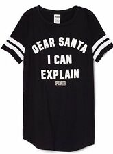 Victoria's Secret PINK DEAR SANTA I CAN EXPLAIN, Size Medium, Holiday NEW!