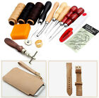 Leather Craft Hand Stitching Sewing Tool Thread Awl Waxed Thimble 14Pcs Set Kit