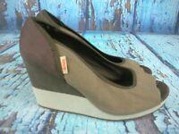 Teva 1002049 Mush Promenade Peep Toe Platform Wedge Heel Sandal Women's U.S. 7