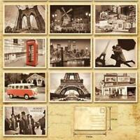 32Pcs Retro Old Travel World Cities Postcards Travel Gift Greeting Cards Vintage