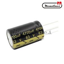 2PCS 63V 4700uF 22X35mm High Frequency Aluminum Electrolytic 105°C Capacitors