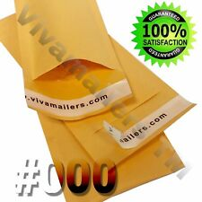 "500 #000 4 x 8 Kraft Paper Bubble Padded Envelopes Mailers 4""x8"" FREE SHIPPING"