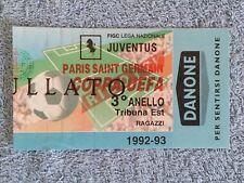 1993 - JUVENTUS v PARIS ST GERMAIN - MATCH TICKET - UEFA CUP SEMI FINAL 1ST LEG