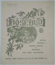 The Rosebud Magazine 1892 November James Clarke London Louis Wain Illustrations