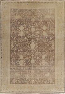 Antique Look Muted Brown Oushak Egyptian Oriental Area Rug VEGETABLE DYE 10x14