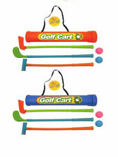 Childs Junior Golf Caddy Set Balls Clubs Trolley Kids Outdoor Garden Game Toy