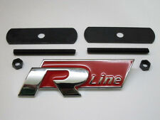 VW R Line Grill Car Badge Red Emblem Polo Passat Golf Tiguan Touareg Grille