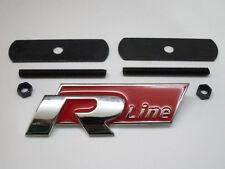 VW R Linea GRILL CAR BADGE EMBLEMA ROSSO POLO PASSAT GOLF TIGUAN TOUAREG griglia