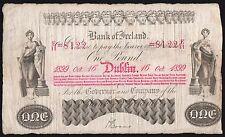 1899 BANK OF IRELAND £1 BANKNOTE * E/11 8122 * gF *