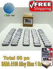 WHEEL WEIGHTS ALLOY Clip on RIMS 1.00 Oz, 50 pc Box BADA ALX 100  MADE IN USA