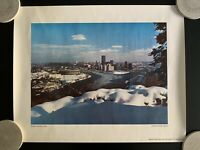 """Vintage Pittsburgh """"Wrapped in White"""" Poster Print"""