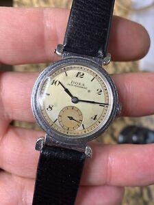 1943 Vintage Doxa Officer Watch Mens Swiss 30mm