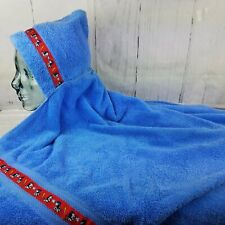 Tommy Hilfiger Childs Hooded Blue Cotton Swim Towel Puppies Baseball Red Ribbon