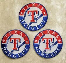 "Texas Rangers THREE 2"" Iron On/Sew On Embroidered Patches~FREE SHIP!~"