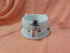 Snowman, Winter Candle Holder, Our America, Candle Huggers