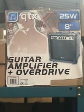 QTX - 25W GUITAR AMPLIFIER COMBO + OVERDRIVE & 8ohm SPEAKER