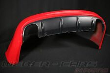 Audi RS6 4F Limo Stoßstange hinten Heckschürze hinten in Rot für PDC bumper red