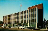 Tupelo Mississippi~Federal Building~NICE 1950s Cars~Fins~Postcard