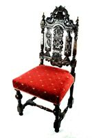 Antique Jacobean Oak Side Chair 19C - FREE Shipping [PL4827]