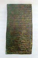 Copper Latter Historical Manuscript Tamrapatra 1800's Antique Old Hand Written