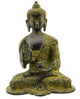 Soprammobile Tibetano Budda Amoghasiddhi Dhyani IN Ottone 18 CM Tibet 25643