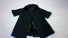 Vintage Womens Black Wool Coat with a Black Mink Collar Nice Condition