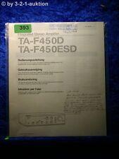 Sony Bedienungsanleitung TA F450D / 450ESD Stereo Amplifier  (#0393)
