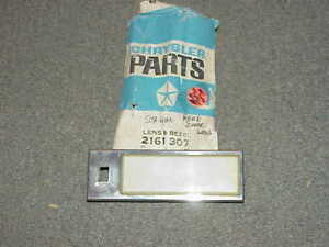 1960-1972 NOS MoPar Plymouth Dodge Chrysler Station Wagon Dome Lamp Lens