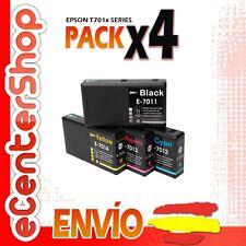 4 Cartuchos T7011 T7012 T7013 T7014 NON-OEM Epson WorkForce Pro WP-4535DWF