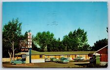 Tip Top Motel in Wolf Point, Montana Roosevelt County Chrome Hotel Postcard