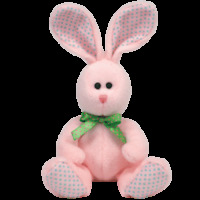 "TY Beanie Baby Valley the pink Bunny 8"" (sitting)...NEW"
