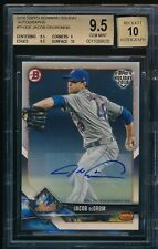 BGS 9.5 AUTO 10 JACOB DEGROM 2018 Topps Bowman Holiday TURKEY #/30 METS GEM MINT