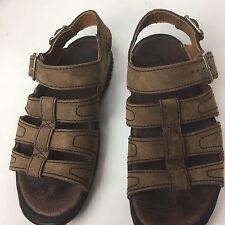 NIKE ACG Mens Brown Black Leather Suede Sport Sandals Sz 8