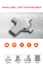 4 in 1 Type-c Pendrive USB Flash Drive  Memory Stick For iPhone PC 128GB 256GB