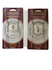 """Hillman Brass Plate Hanger Holds 7-10"""" Plates 122052"""