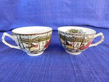 (2) Johnson Brothers Friendly Village FLAT CUP -SET of TWO have more items