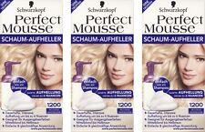 3x Schwarzkopf Perfect Mousse Schaum-Aufheller 1200 Intensiv Aufheller