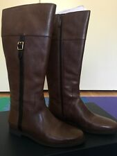Cole Haan 'Eldridge' Chestnut Leather Extended Calf Riding Boot Women Size 7.5B