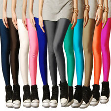 Women Shiny Winter Glossy Fluorescent Sexy Legging Stretch Free Size Leggging
