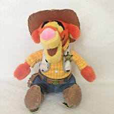 "Disney Store Tigger in Woody Toy Story Costume Stuffed Plush Animal Toy 17"" Tall"