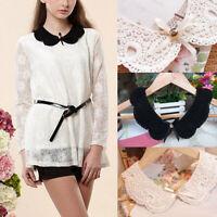 Lace Collar Detachable Lapel Shirts Blouse Sweaters False Collars &Choker[