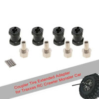 4pcs 12mm Hex 17mm Coupler Tire Extended Adapter for Traxxas Hsp Redcat Rc4wd