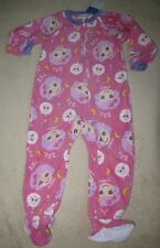LALALOOPSY *Zzz....* Pnk Fleece Blanket Sleeper Pajamas Pjs sz  4T