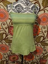 BRAND NEW WOMANS HOLLISTER GREEN SPAGHETTI STRAP BLOUSE SIZE SMALL 100% COTTON