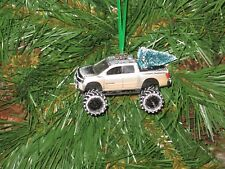 Jada 2006 Nissan Titan Silver Custom Christmas Ornament w/tree,snow G