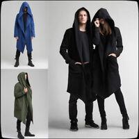 Medieval Renaissance Unisex Assassin Coat Hooded Cardigan Jacket Hoody Long Top
