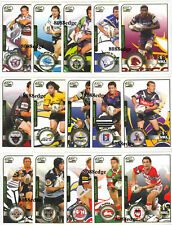 2005 SELECT POWER NRL CLUB PLAYER OF THE YEAR COMPLETE 15 CARDS INSERT SET