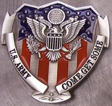 Military Belt Buckle Pewter U S Army Emblem & Shield NEW