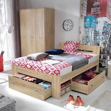 Great double bed with shelves and drawers, spacious and comfortable, oak sonoma!
